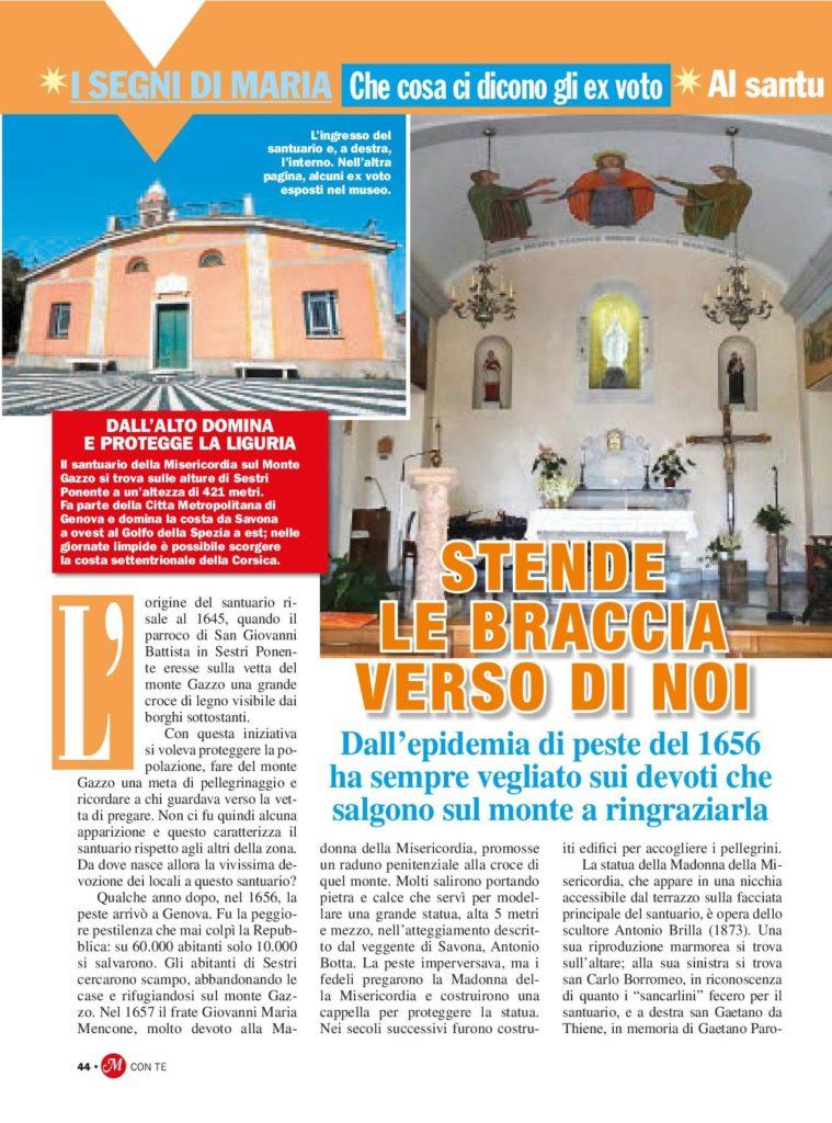 Al Santuario di Nostra Signora del Monte Gazzo nel genovese 1